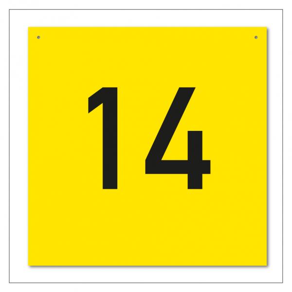Regalzeilenschilder / Gangschilder mit fortlaufender Nummerierung