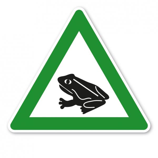 Verkehrsschild Achtung Krötenwanderung - grün – VZ-PR 07
