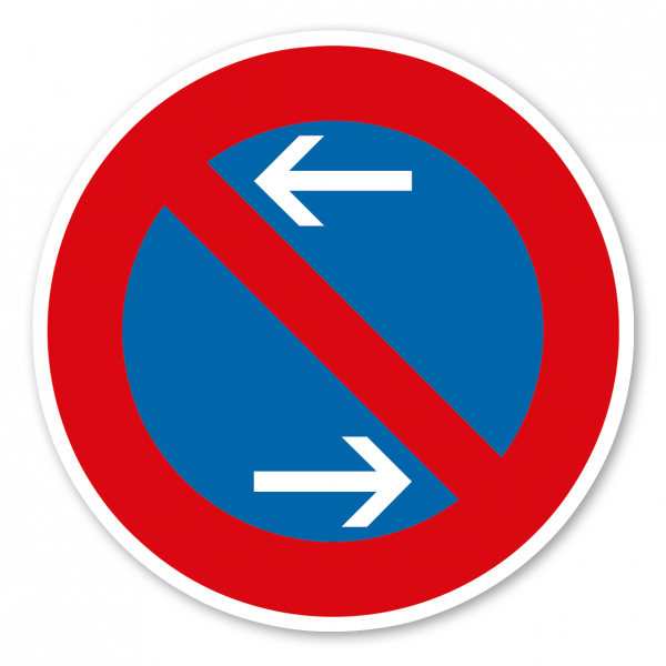 Verkehrsschild Eingeschränktes Halteverbot Mitte - Rechtsaufstellung – VZ 286-30