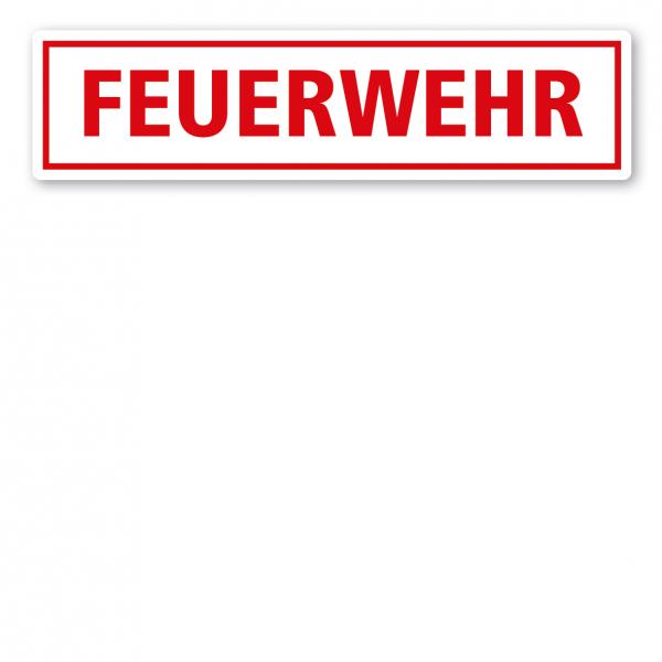 KFZ - Magnetschild Feuerwehr