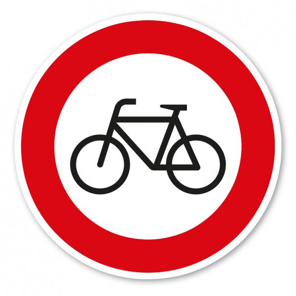 Verkehrsschild Verbot für Radfahrer – VZ 254
