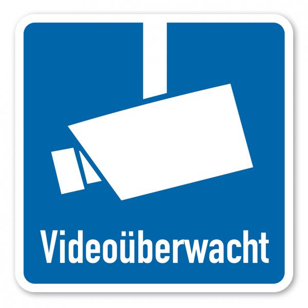 Hinweisschild Videoüberwacht - quadratisch