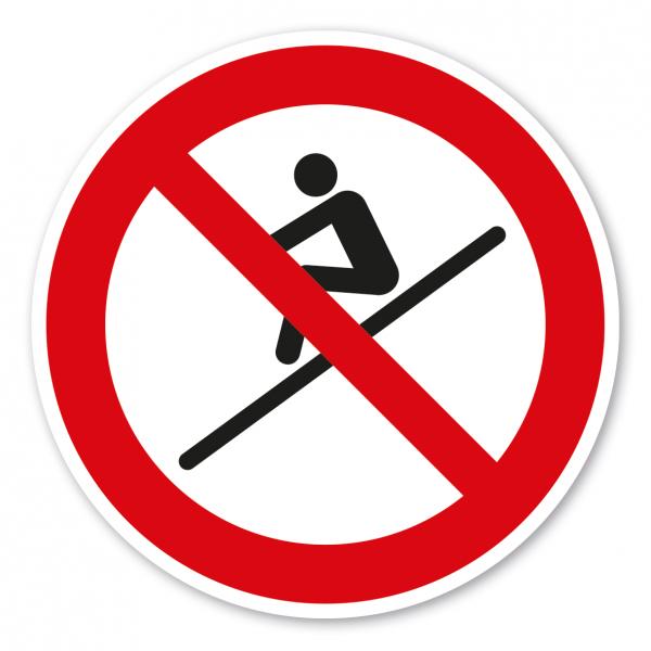 Verbotszeichen Sitzend rutschen ist verboten – Wasserrutschen