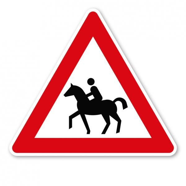 Verkehrsschild Achtung Reiter - Aufstellung rechts – VZ 101-13