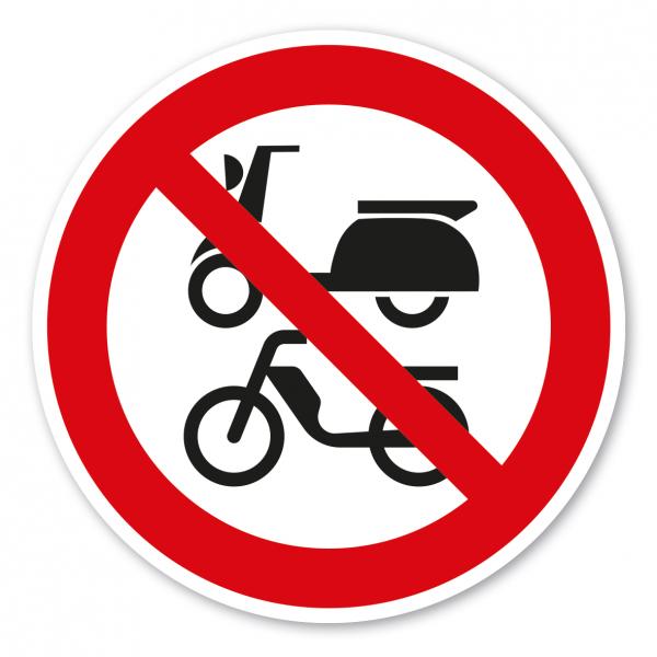 Verbotszeichen Für Roller und Mofas verboten