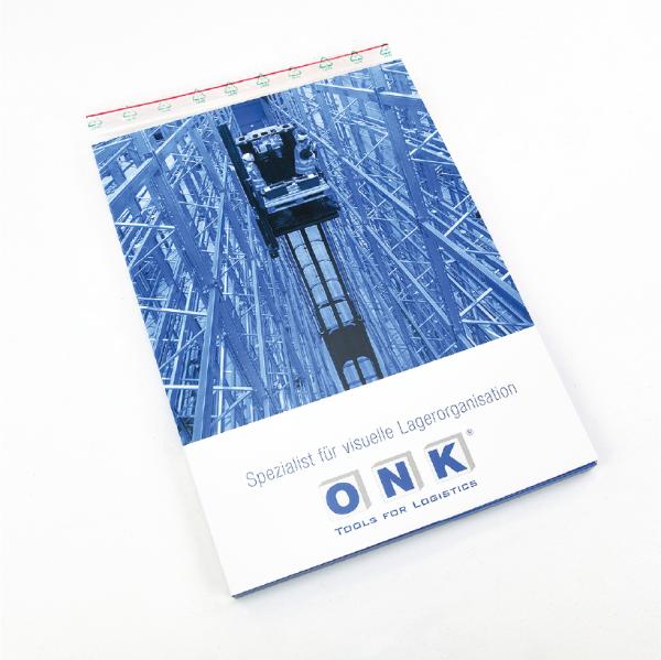 ONK Informationsmappe mit Katalog, Flyer und Musterartikeln