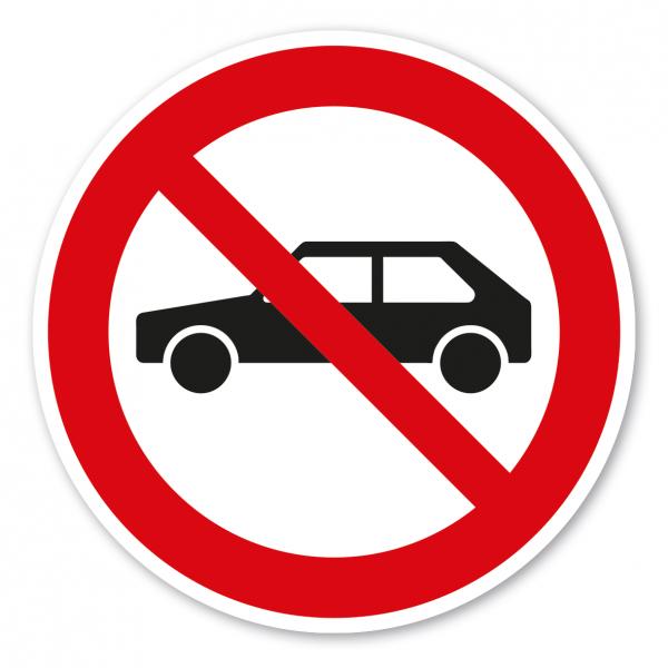 Verbotszeichen Für Autos verboten
