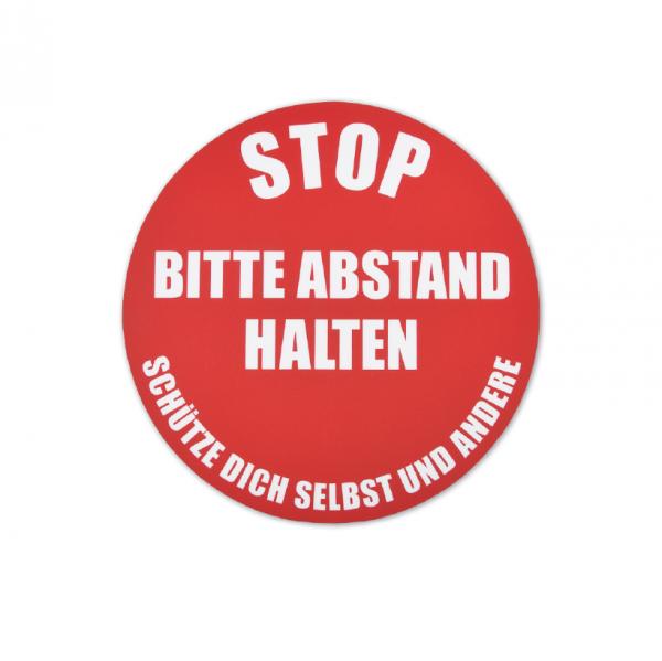 Bodenmarkierung - Stop Bitte Abstand Halten - Kreis Rund - 23,5 cm rot / Schütze dich selbst und andere