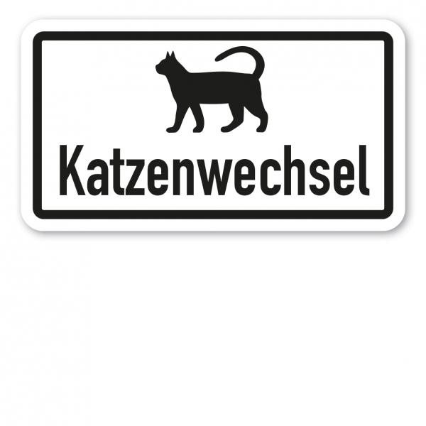 Zusatzzeichen Katzenwechsel - Verkehrsschild VZ-23