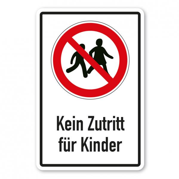 Verbotsschild Kein Zutritt für Kinder - Kombi – ISO 7010 - P036-K