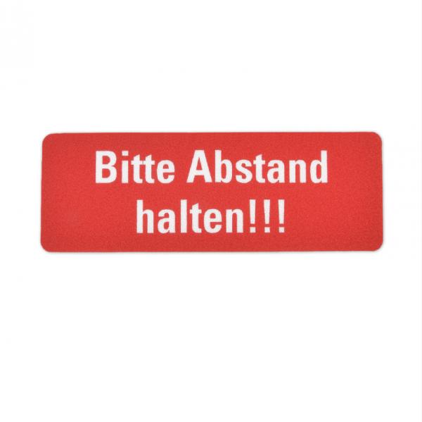 Bodenmarkierung - Bitte Abstand halten - Anti Rutsch - 300x100 mm rot